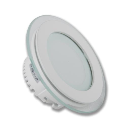 LED Panel Light ROUND - AC85-265V - 6W - SMD5730 12pcs - 425Lm - Color 4000k